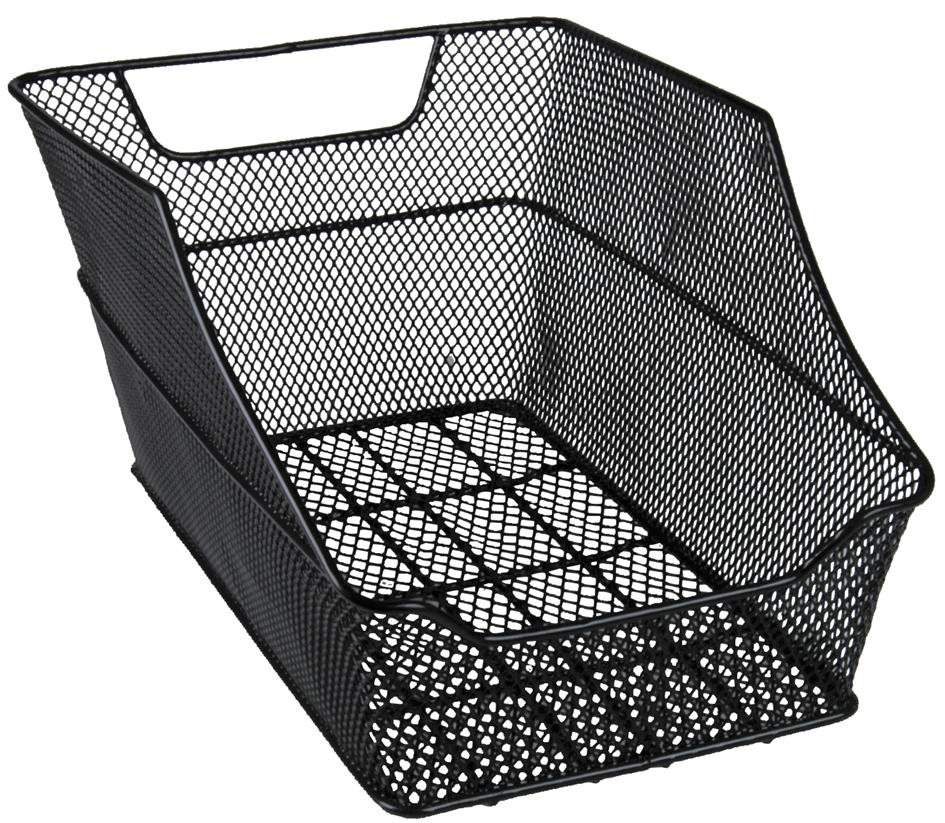 FISCHER Fahrrad-Korb ´BIG´ für den Gepäckträger, schwarz