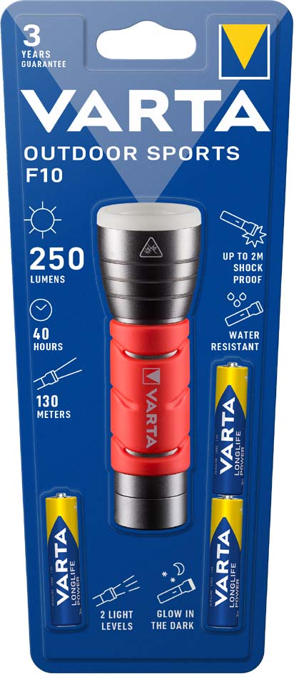 VARTA LED-Taschenlampe ´Outdoor Sports Flashlight´, 3 AAA