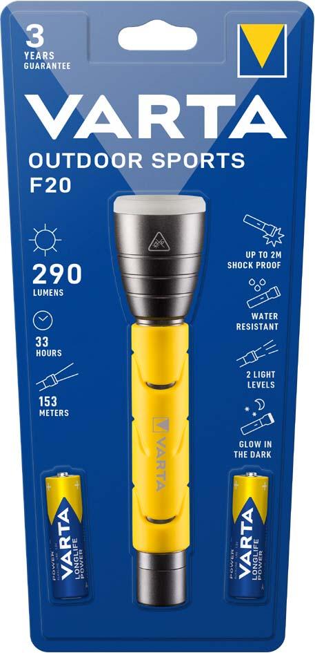 VARTA LED-Taschenlampe ´Outdoor Sports Flashlight´, 2 AA