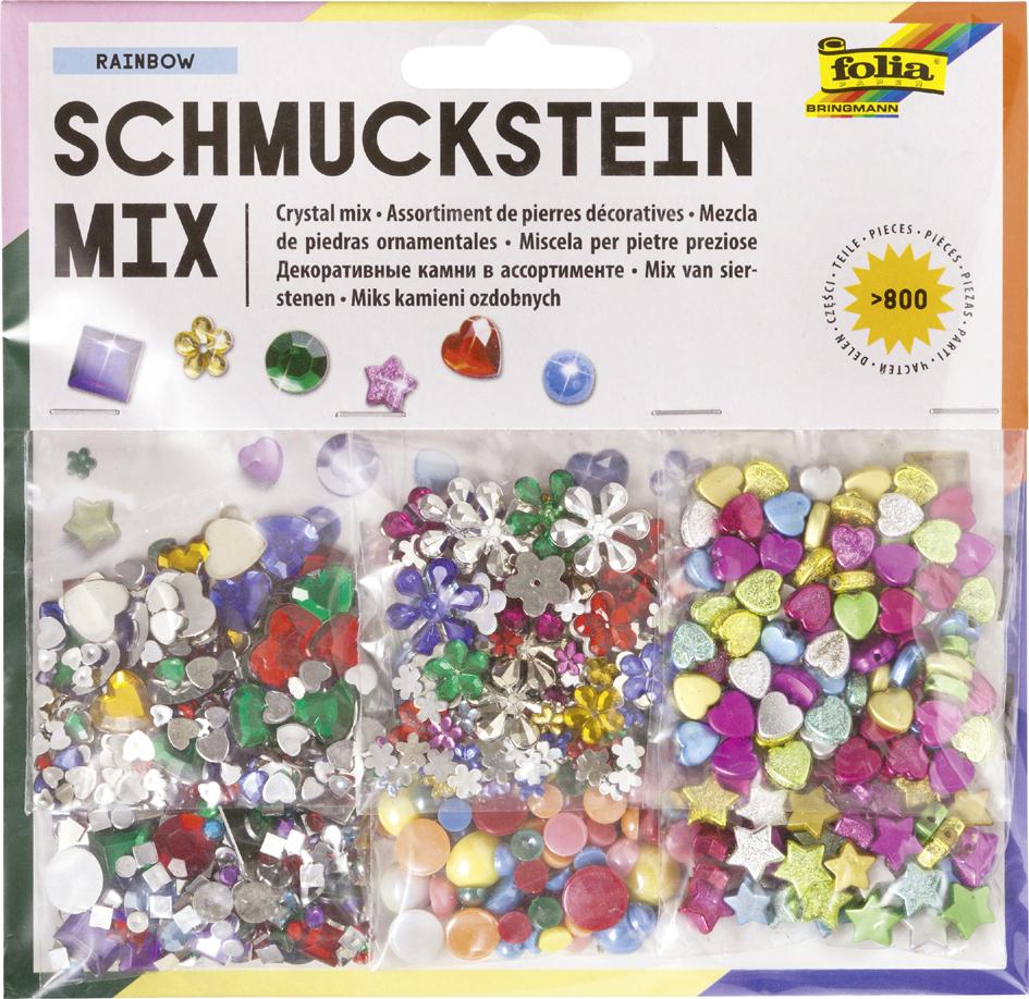 folia Schmucksteine-Set, über 800 Teile sortiert