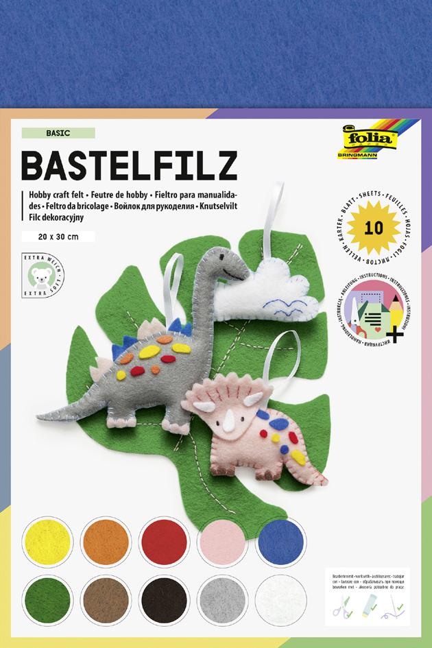 folia Bastelfiz, 200 x 300 mm, 150 g/qm, farbig sortiert