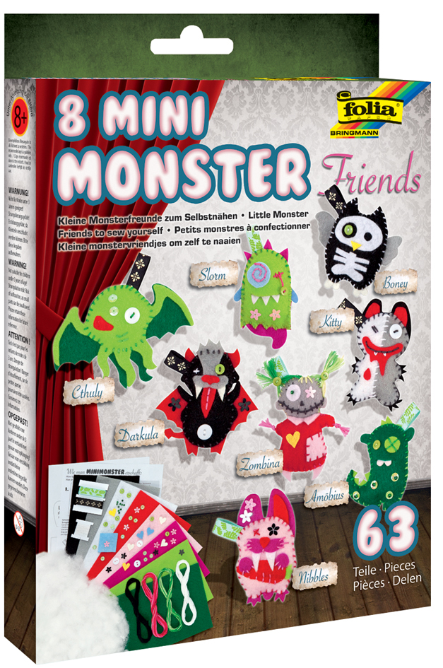 folia Häkelset ´Mini Monster Friends´