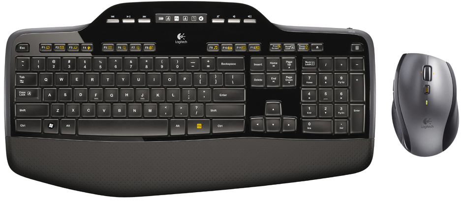 Logitech Desktop Set MK710, kabellos, schwarz/anthrazit