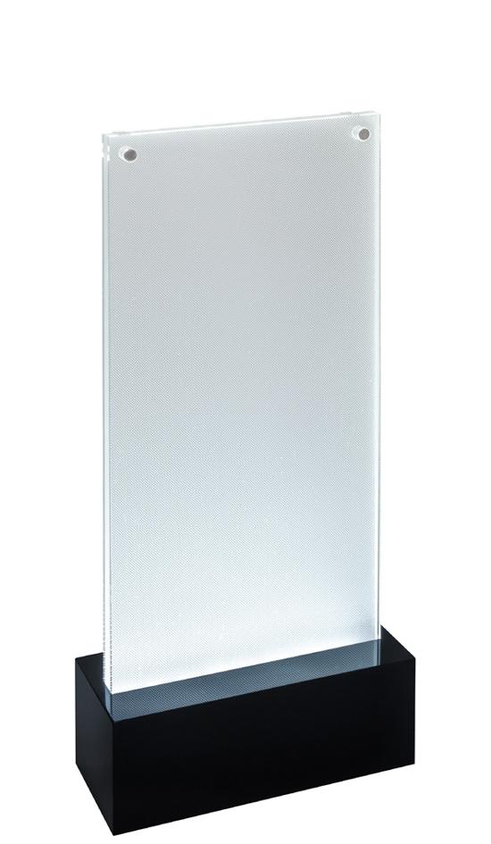 sigel LED-Tischaufsteller ´luminous´, Acryl, DI...