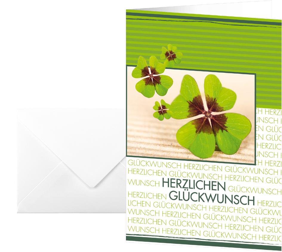 sigel Glückwunschkarte ´Fortune´, (B)115 x (H)170 mm