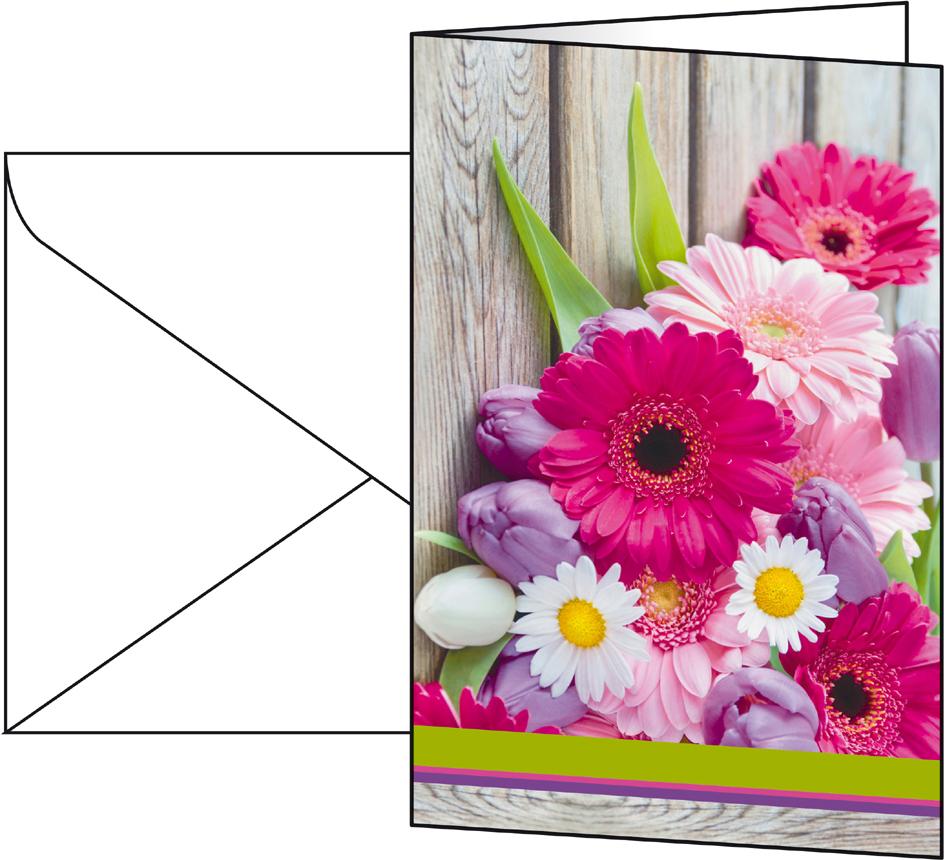 sigel Grußkarte ´Colorful´, (B)115 x (H)170 mm