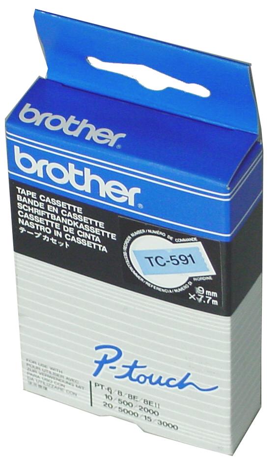 brother TC-Tape TC-291 Schriftbandkassette, Bandbreite: 9 mm