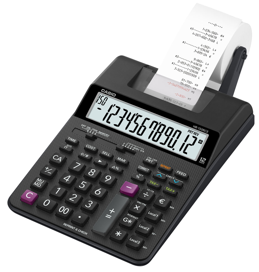 CASIO druckender Tischrechner HR-150 RCE