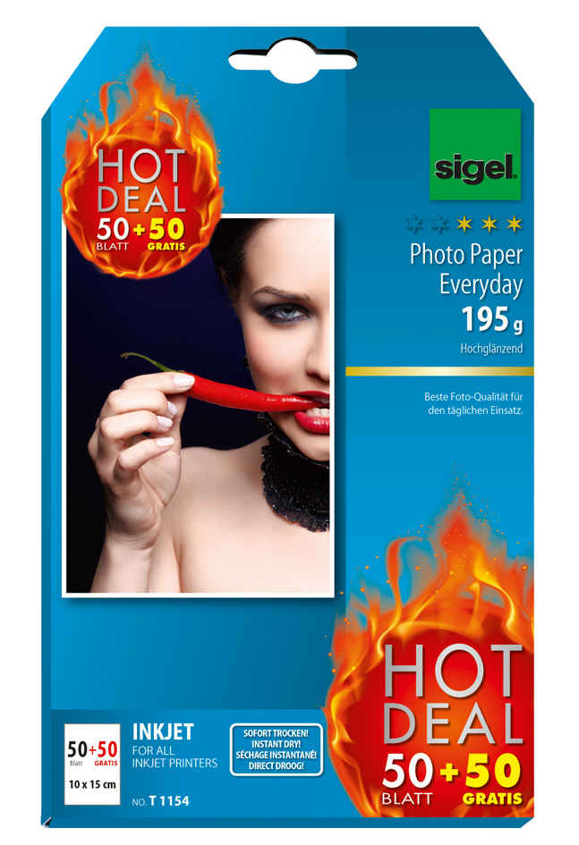 sigel InkJet-Everyday-Foto-Papier HOT DEAL, 10 x 15 cm