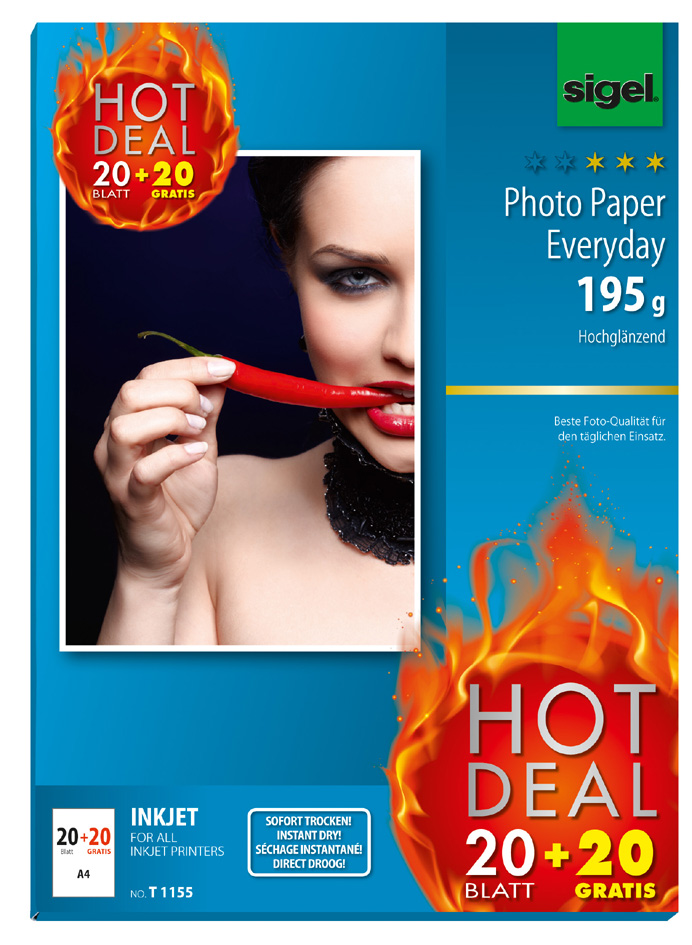 sigel InkJet-Everyday-Foto-Papier HOT DEAL, DIN A4