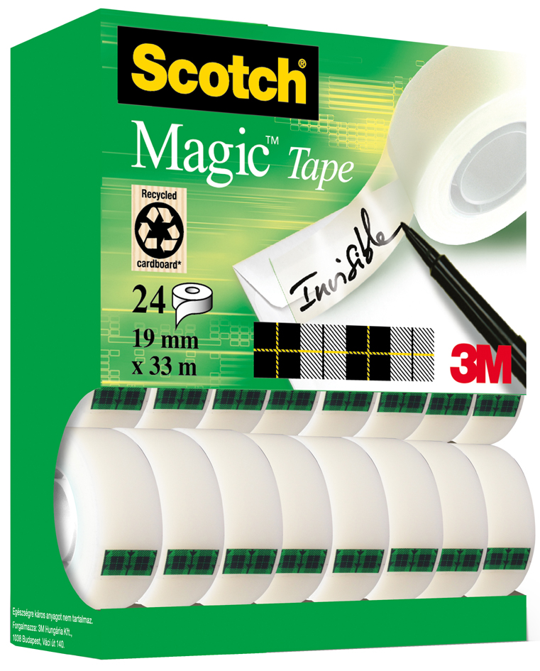 3M Scotch Klebefilm Magic 810, 19 mm x 33 m, 10+4 GRATIS