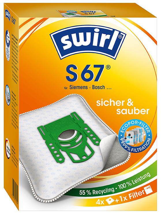 swirl Staubsaugerbeutel S 67, mit MicroporPlus-Filter