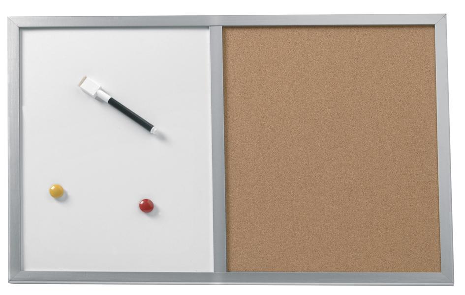 herlitz Kombi-Tafel, (B)600 x (H)400 mm, Holzra...