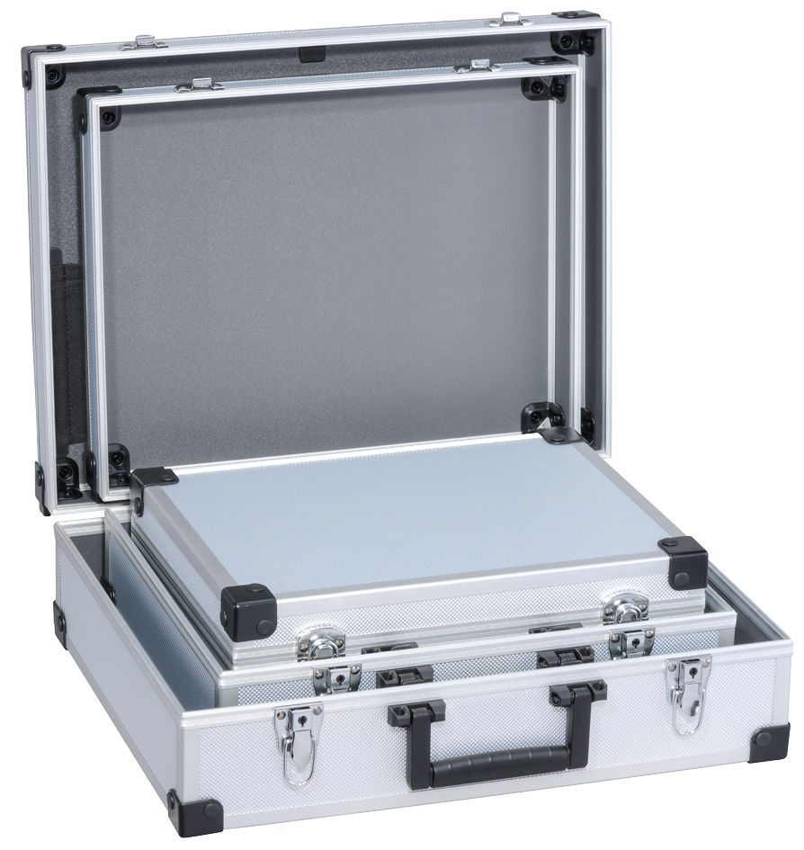 allit Utensilien-Kofferset | AluPlus Basic| | 3-teilig| silber | Taschen > Koffer & Trolleys > Koffersets | Allit
