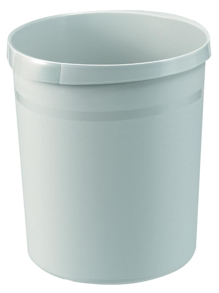HAN Papierkorb GRIP, 18 Liter, rund, lichtgrau