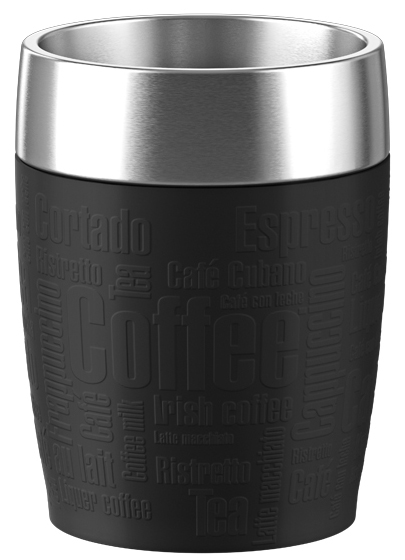 emsa Isolierbecher TRAVEL CUP, 0,20 L., Manschette schwarz