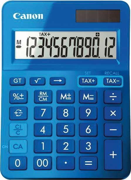 Canon Tischrechner LS-123K-MBL, Farbe: blau