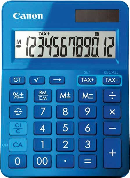 Canon Tischrechner LS-123K-MPK, Farbe: pink