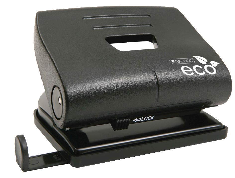 RAPESCO Locher Eco Medium, Stanzleistung: 22 Blatt, schwarz