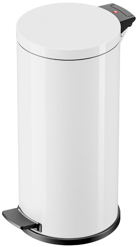 Hailo Tret-Abfalleimer Solid L, 18 Liter, weiß