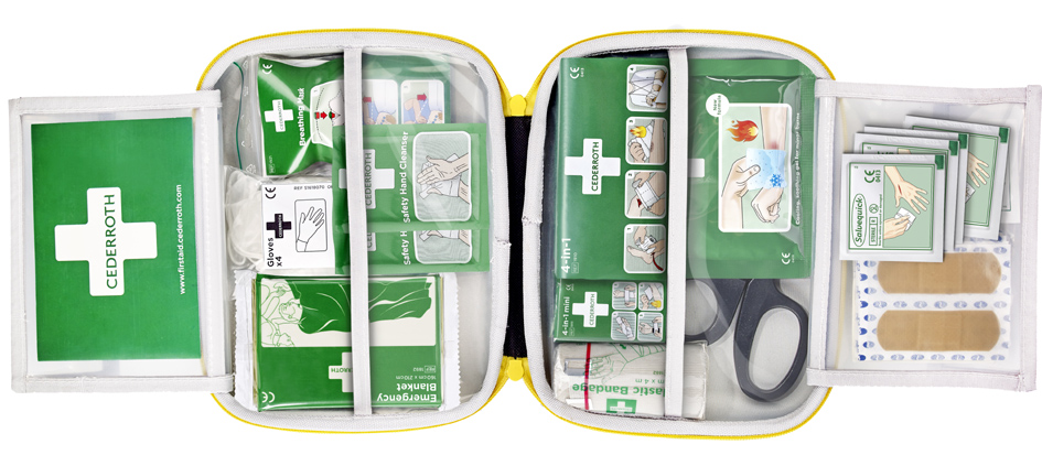 CEDERROTH Erste-Hilfe-Set mittel, im Softcase