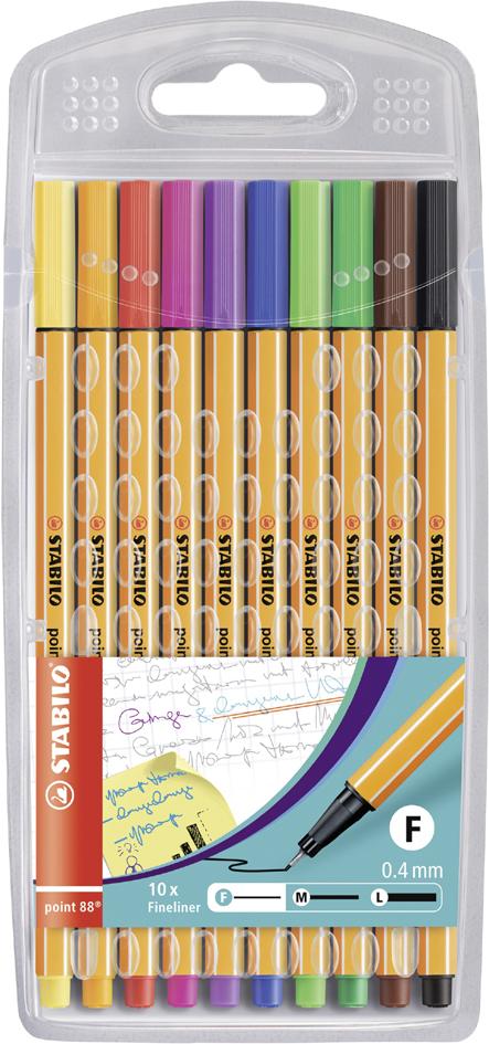 STABILO Fineliner point 88, 10er Kunststoff-Etui