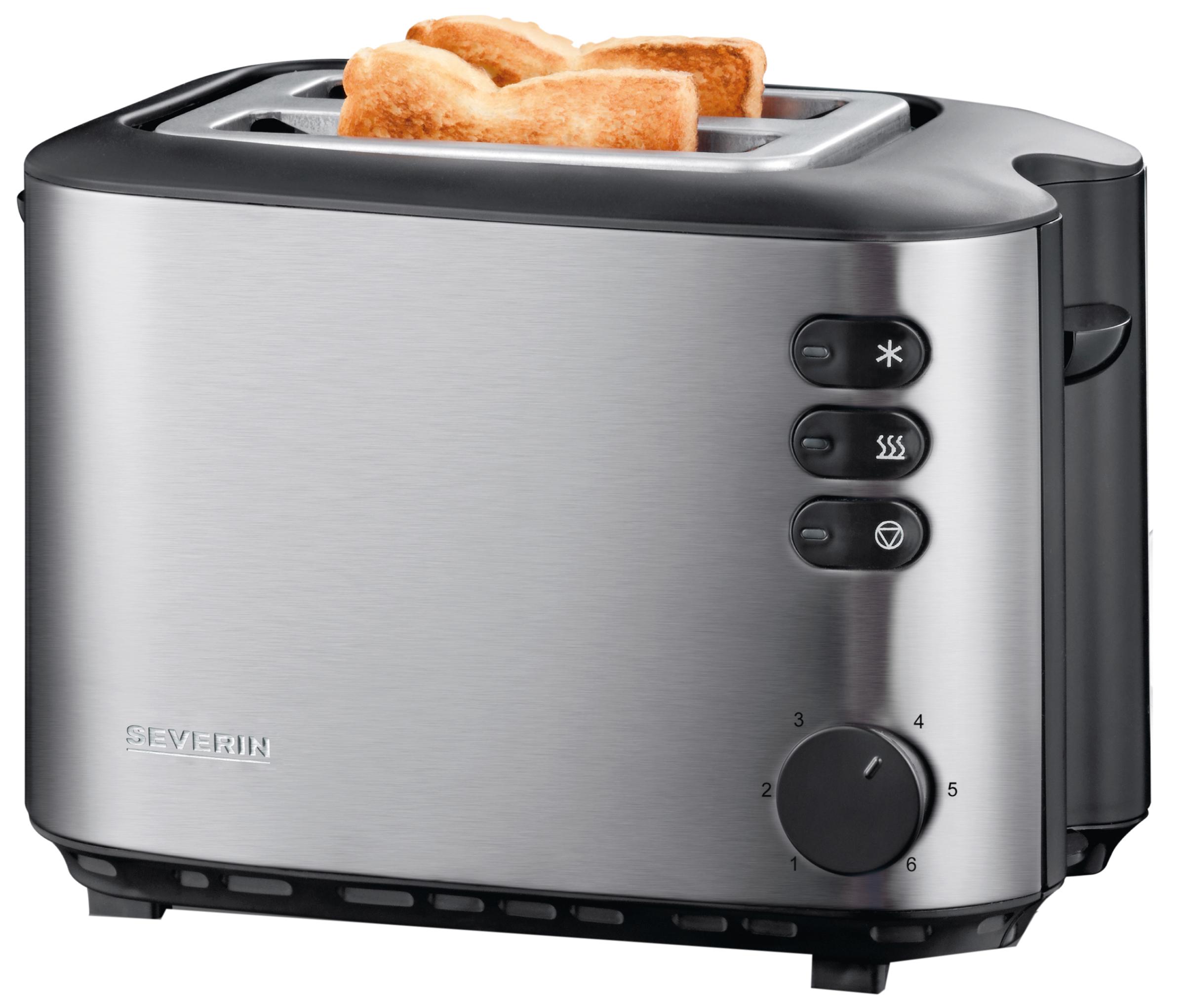 SEVERIN 2-Scheiben-Toaster AT 2514, Edelstahl / schwarz