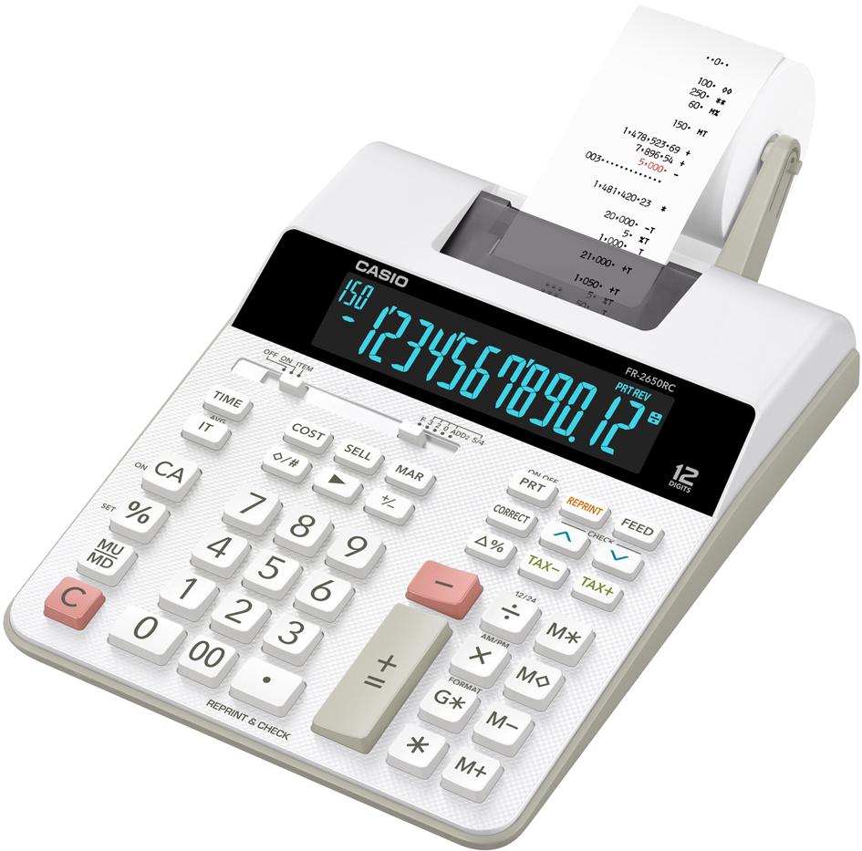 CASIO Druckender Tischrechner Modell FR-2650 RC