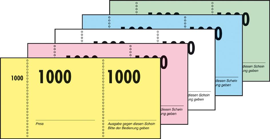 Restposten: sigel Nummernblock 1-1000, 105 x 50 mm