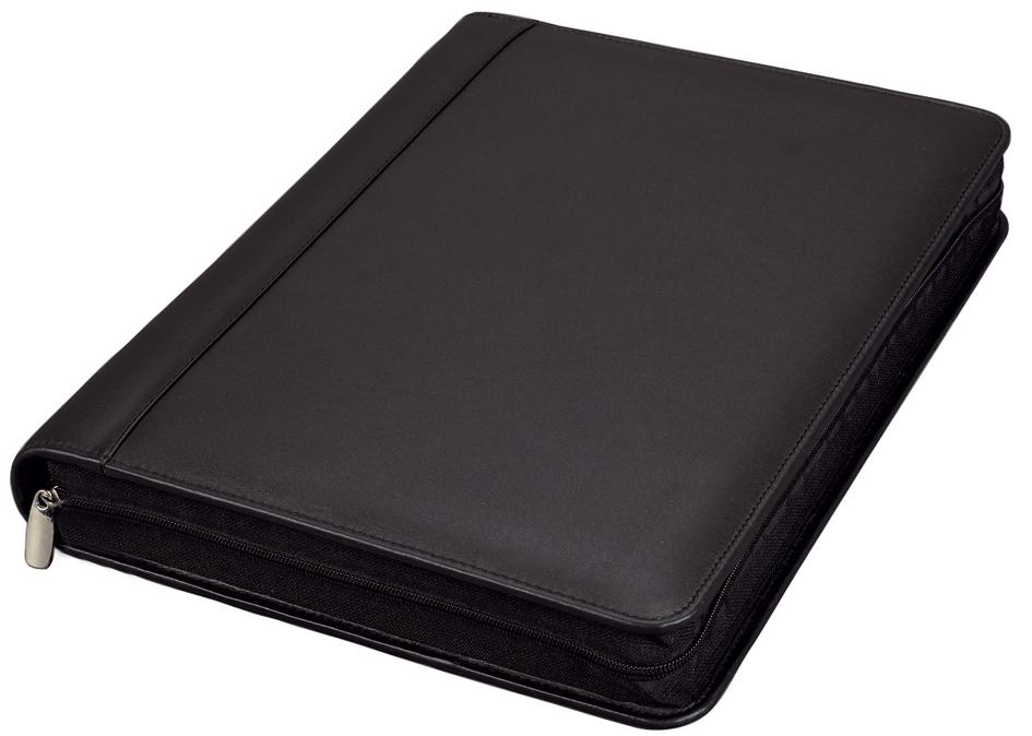 Alassio Schreibmappe ´VALLO´, DIN A4, Nappa-Leder, schwarz
