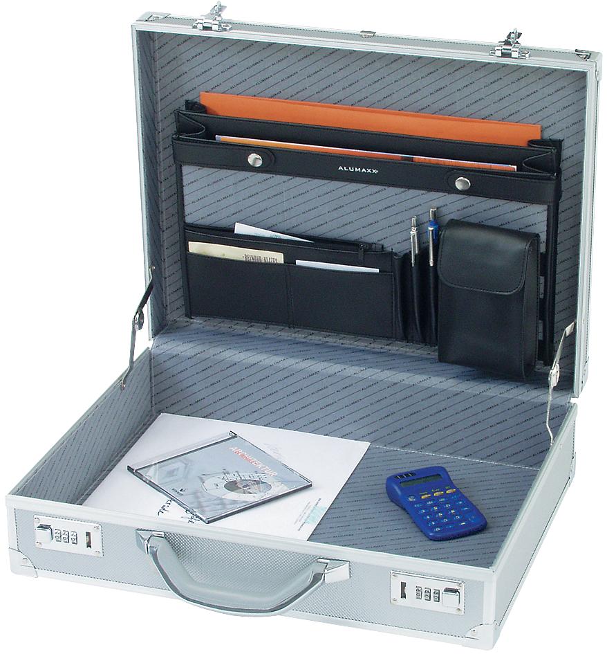ALUMAXX Attaché-Koffer ´OCTAN´, Aluminium, silber