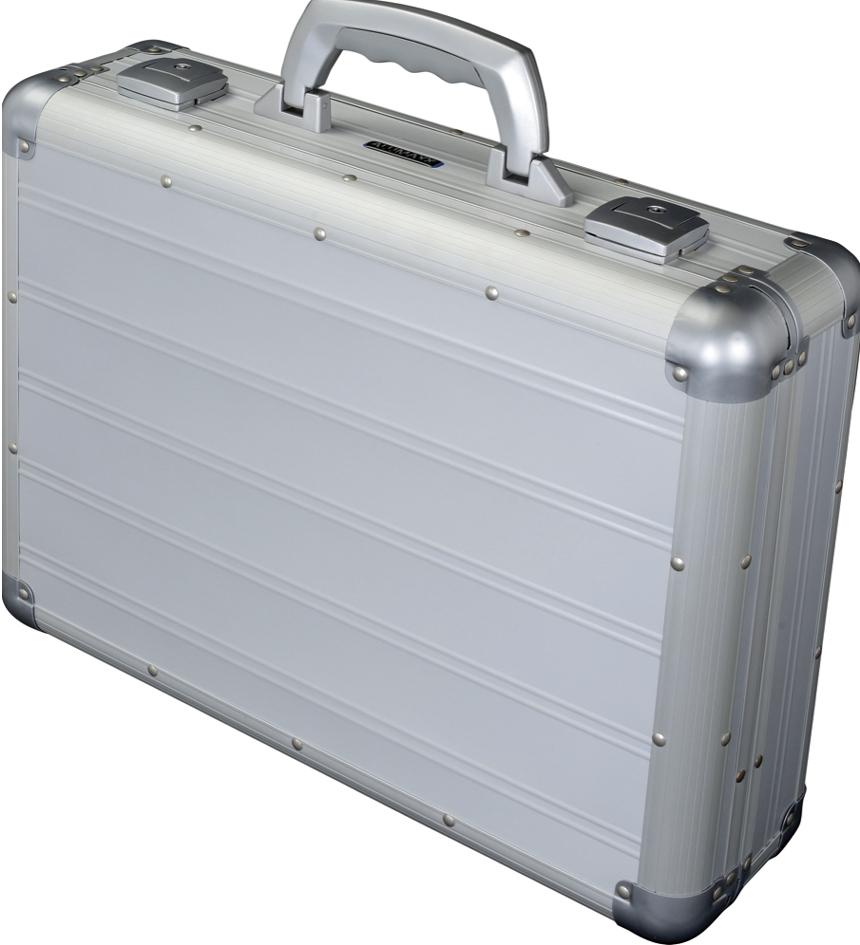 ALUMAXX Attaché-Koffer ´VENTURE´, Laptopfach, silber matt