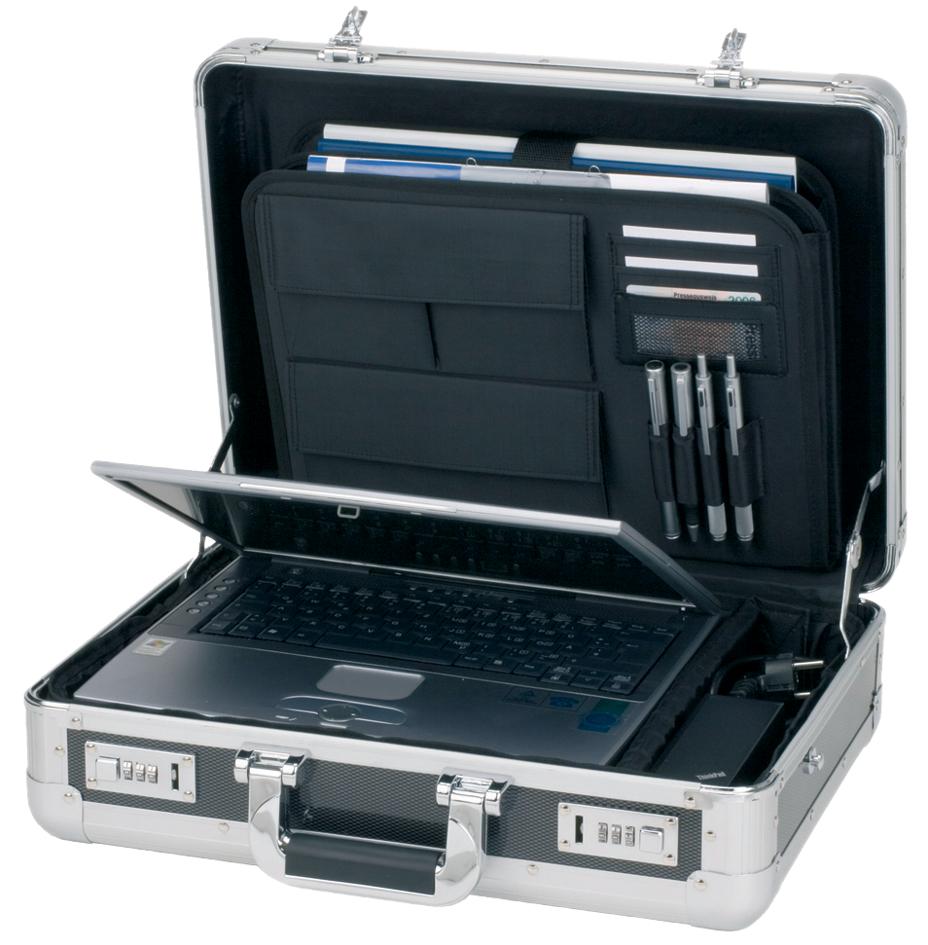 ALUMAXX Laptop-Attaché-Koffer ´CARBON´, Aluminium