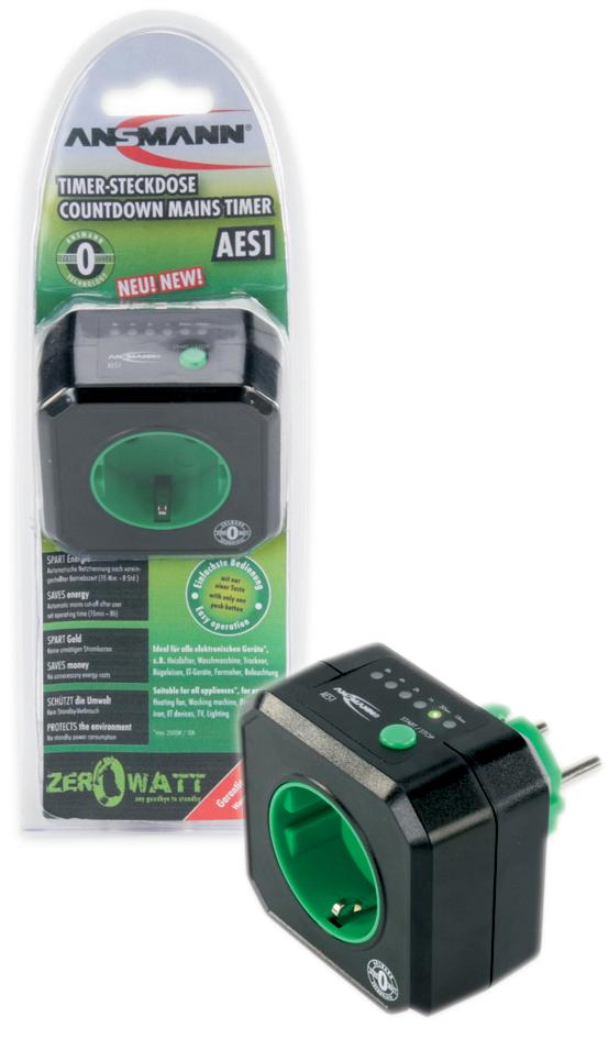ANSMANN Energiespar-Steckdose ´ZEROWATT´ AES1, zeitgesteuert