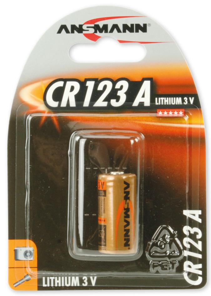 ANSMANN Lithium-Foto-Batterie ´CR123A´, 3 Volt,...