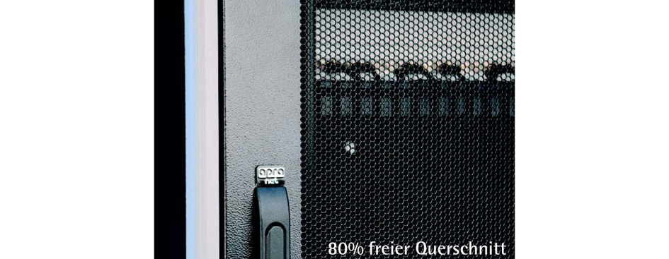 apranet 19´ Serverschrank TiRAX IP20, 42 HE, tiefschwarz