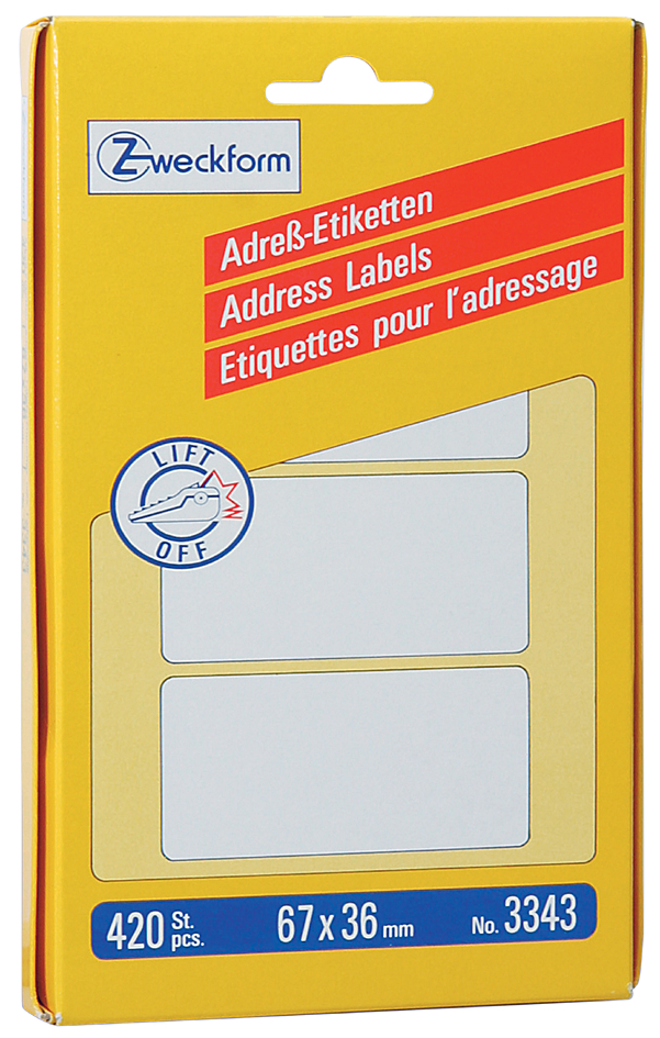 AVERY Zweckform Adress-Etiketten, 67 x 38 mm, a...