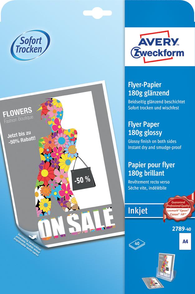 AVERY Zweckform Flyer-Papier, DIN A4, 180 g/qm,...