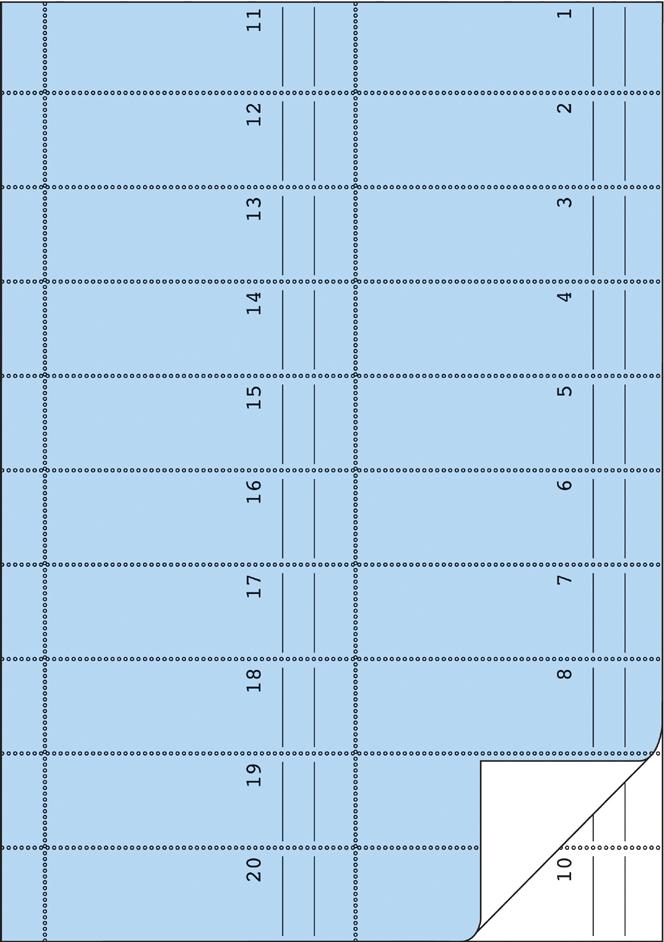 AVERY Zweckform Formularbuch ´Bonbuch´, blau, A4