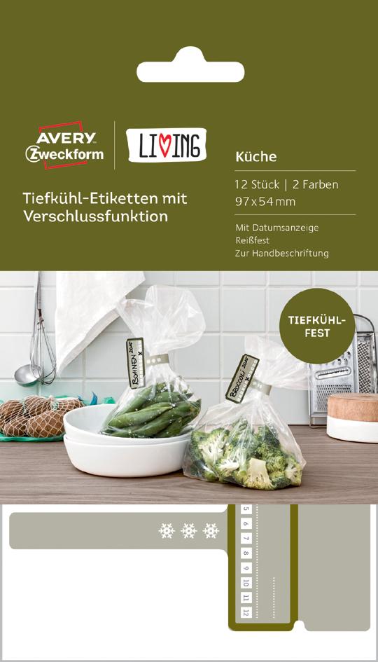 AVERY Zweckform LIVING Tiefkühl-Etiketten mit V...