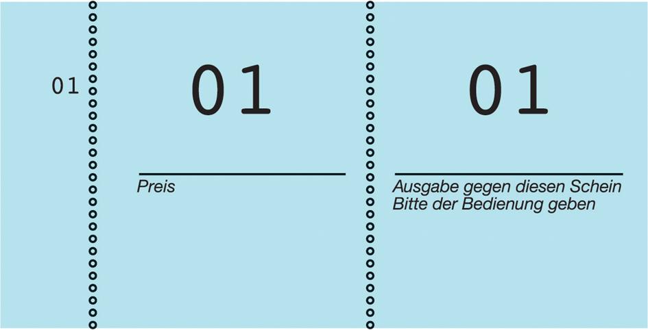 AVERY Zweckform Nummernblock 1 - 100, 105 x 53 ...