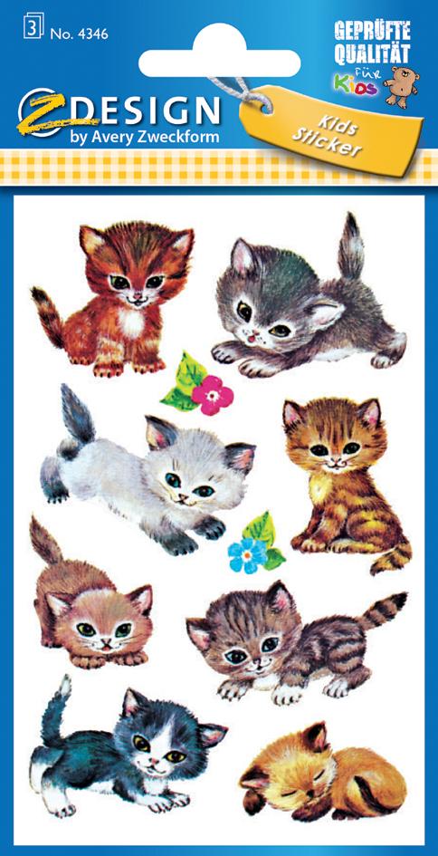 AVERY Zweckform ZDesign Sticker KIDS ´Katzen´