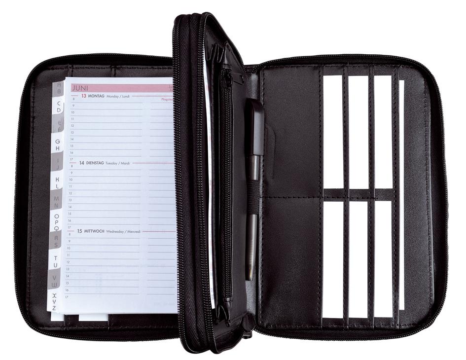 bind Duo-Terminplaner Modell 16500-1, A6, schwarz