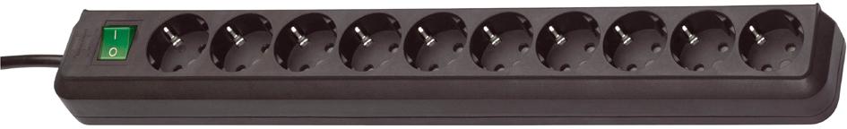 brennenstuhl Steckdosenleiste ´Eco-Line´, 10-fach, schwarz