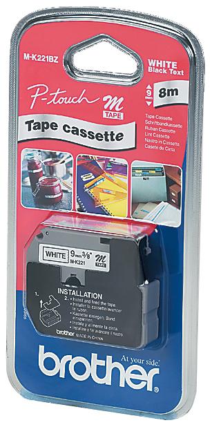 brother M-Tape M-K221S Schriftbandkassette, Bandbreite: 9 mm
