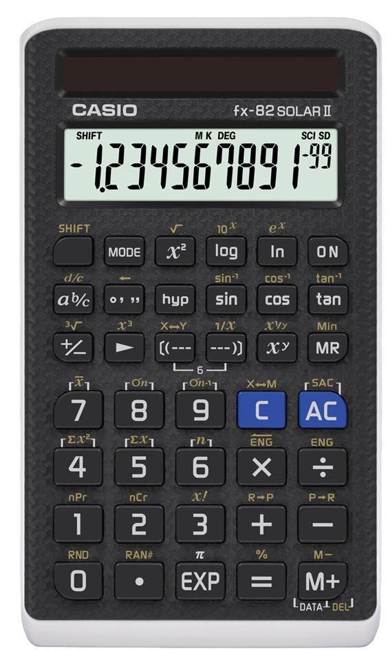 CASIO Schulrechner Modell FX-82 SolarII, Solarbetrieb