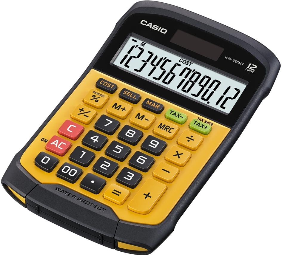 CASIO Tischrechner WM-320 MT, Solar-/ Batteriebetrieb