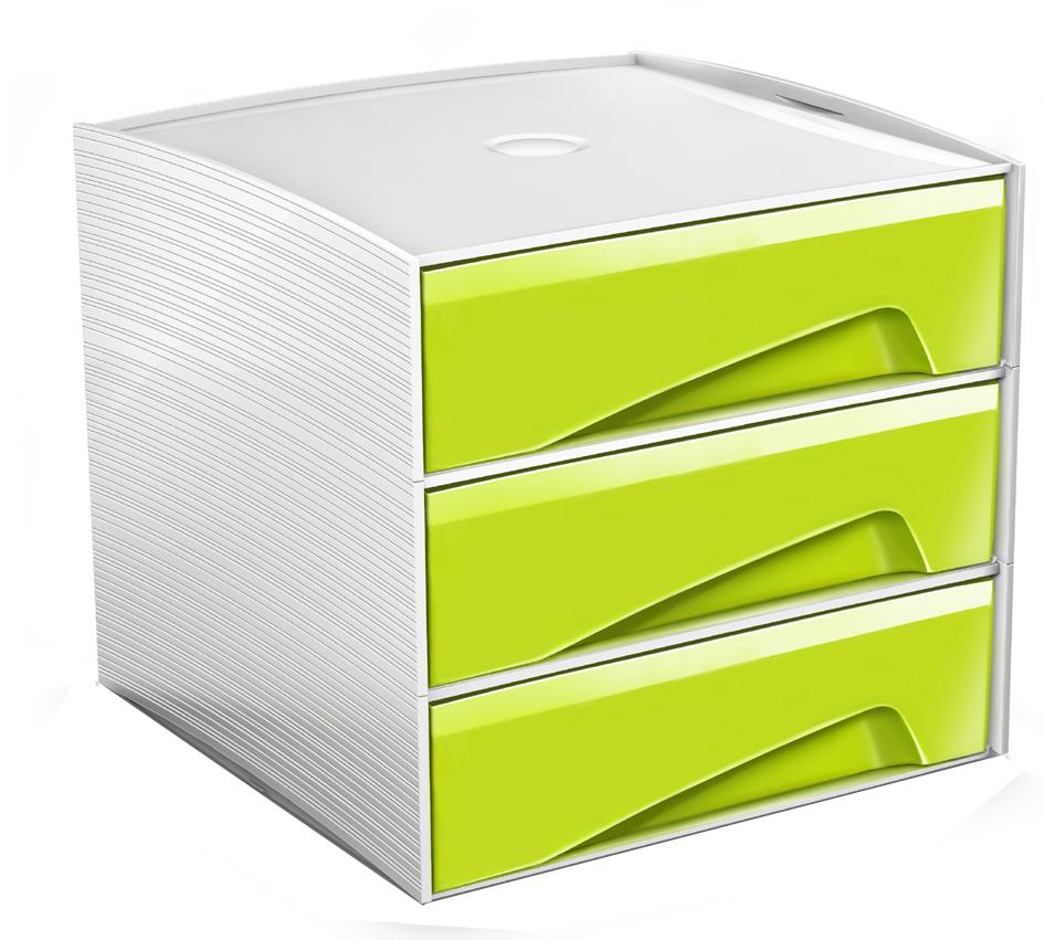 CEP Mini-Schubladenbox MyCube, 3 Schübe, schwarz