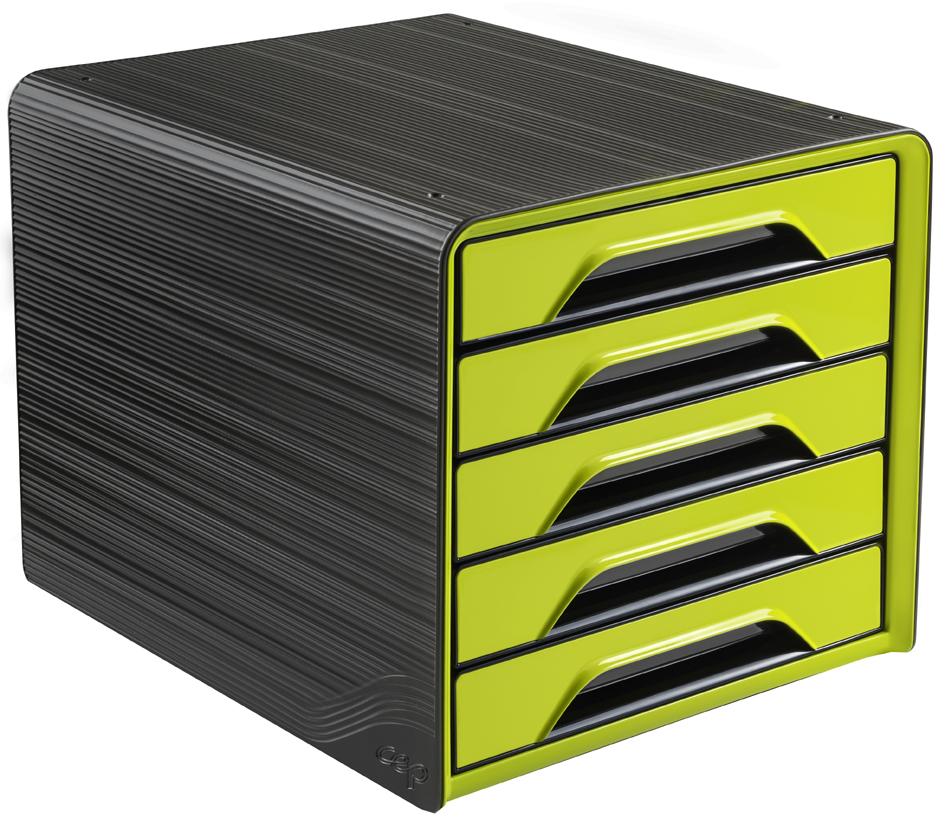 CEP Schubladenbox Smoove GLOSS, 5 Schübe, schwa...