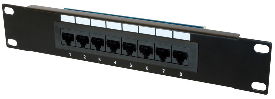 DIGITUS 10´ Patch Panel Kat.5e, Klasse D, 8 x R...